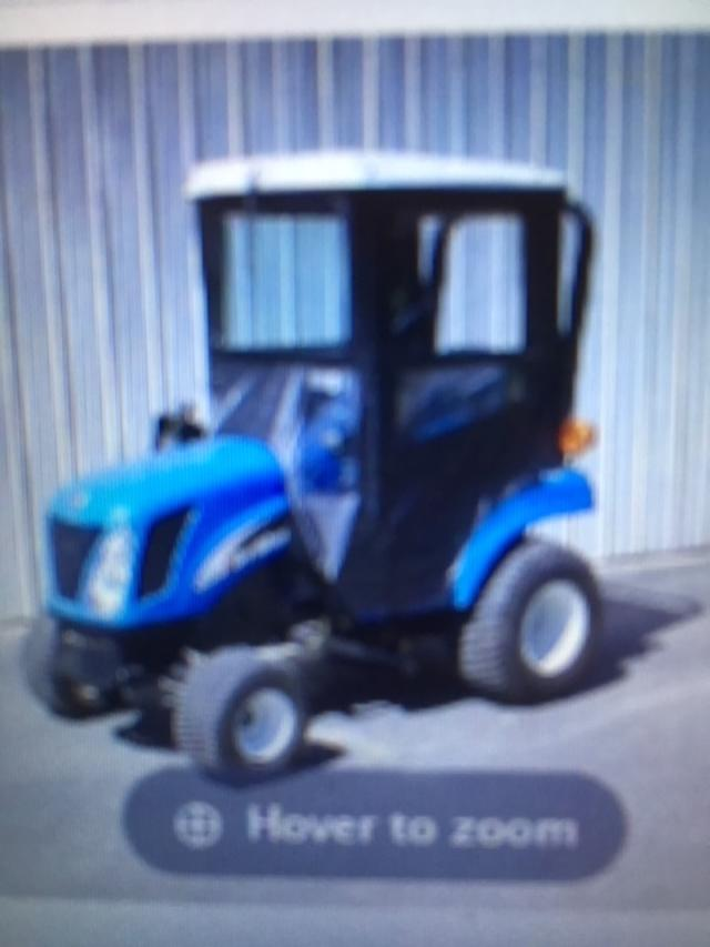 New Holland Compact Tractor Hard Top Cab on