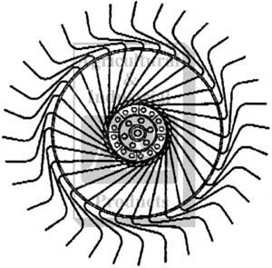 UTSRKE0242 Complete Rake Wheel Right Hand W 7mm Tines 26814